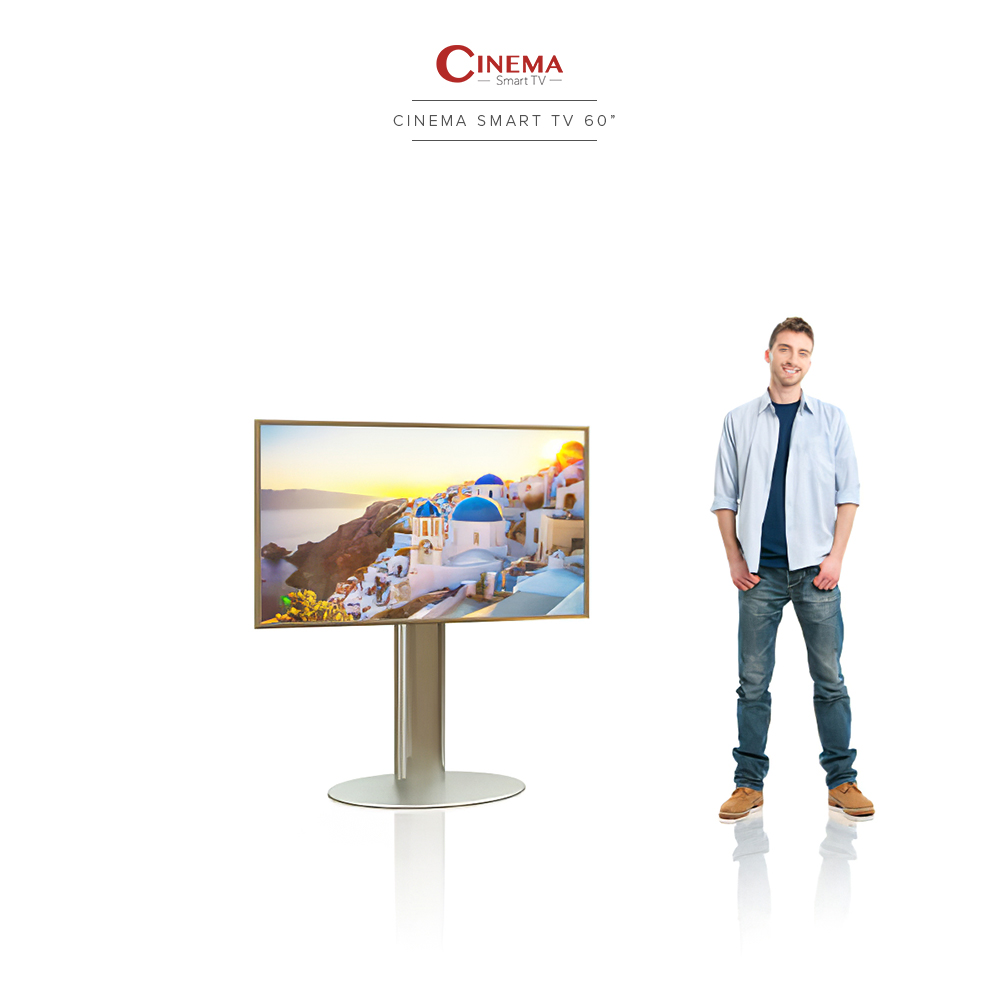 Bring the big screen to your home with this smart cinema TV.
