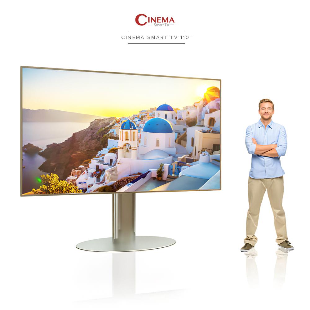 Enjoy a life size entertainment with cinema smart tv.