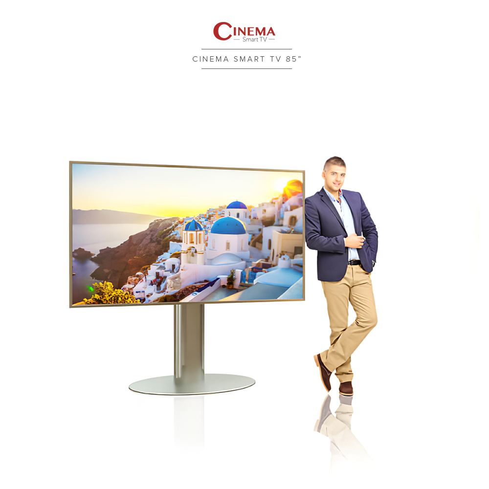Exceptional in size and resolution, this makes an ideal home cinema smart TV.