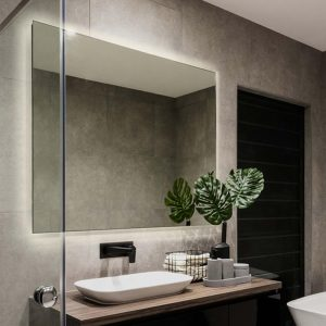 Premium quality mirror with LED light that spreads evenly around the back of the mirror.