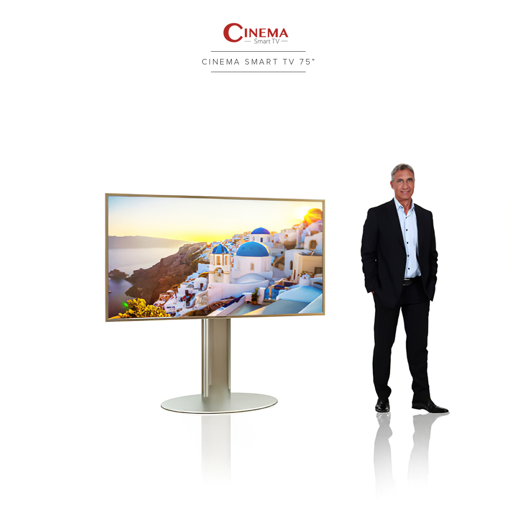 Real 4K ultra high definition resolution cinema smart TV.