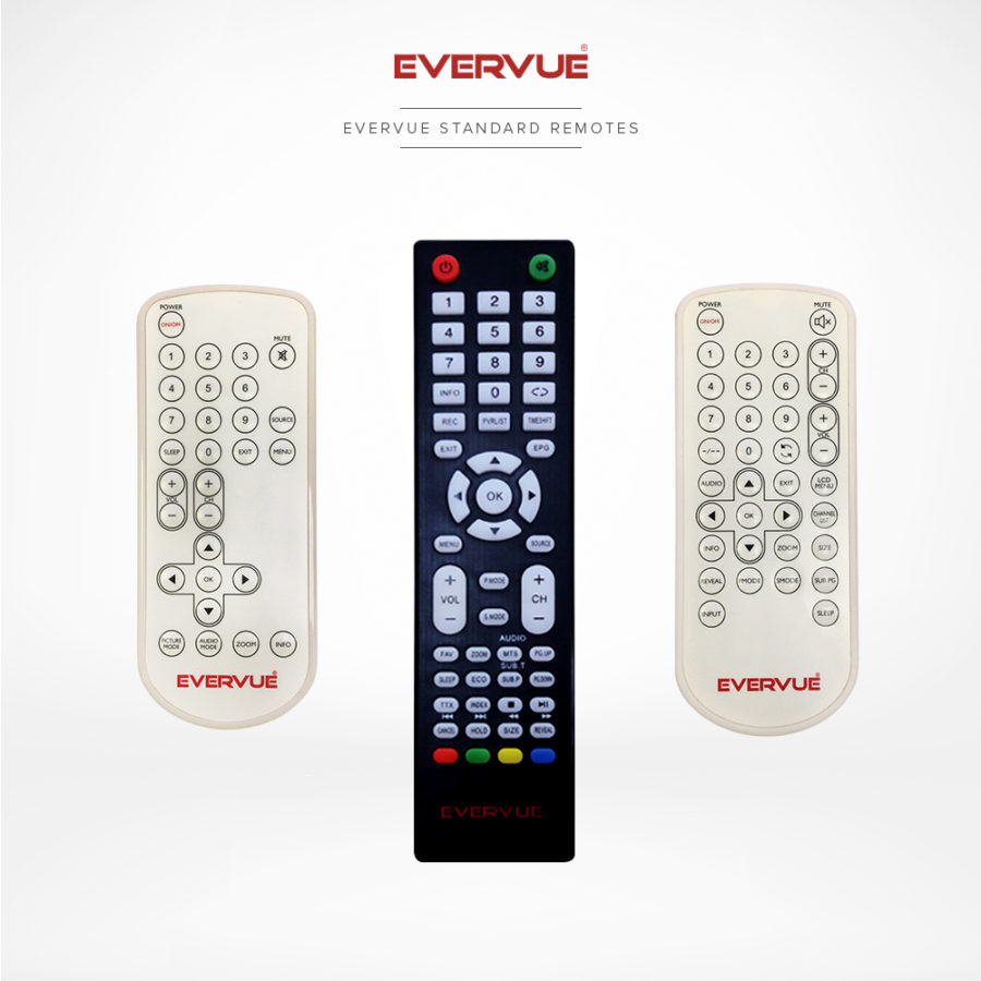 Standard tv remote controls with all the necessary buttons.