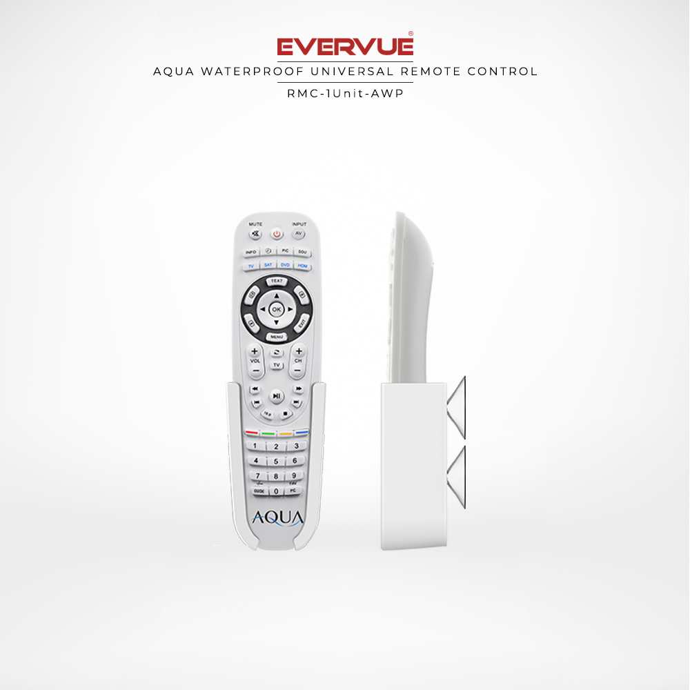 Universal remote control that works with any device with infrared.
